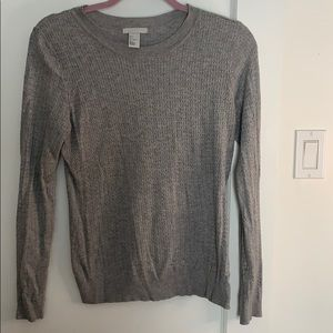 H&M grey cable knit fitted sweater *3 for $25*